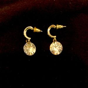 Cubic Zirconium Stud Dangle Earrings